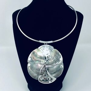 Jewelry - Mother of Pearl Shell Sterling Silver Pendant